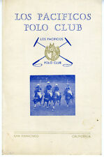 1948 Program from the Los Pacificos Polo Club of San Francisco CA