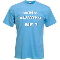 T-SHIRT Mario Balotelli Manchester City MCFC WHY ALWAYS ME Sizes S-XXXL