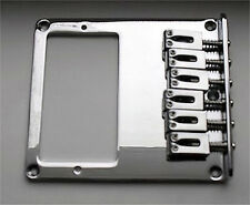 Guitar Parts TELECASTER BRIDGE - 6 Saddle - Cut for Humbucker - CHROME