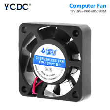 2 Pin Black Desktop CPU Heatsink Cooler Cooling Fan DC 12V 4010 Model 40x40mm