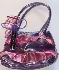 Girls Purse Ruffled Metallic Ruffles Ponytails & Lipgloss Cute Gift NWT Handbag