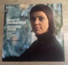 German LP Brigitte Fassbaender Zigeuner-Lieder Schumann Brahms Liszt Near MINT*