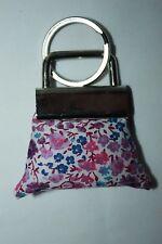 Cute ~ HANDBAG ~ keyring ~ Liberty fabric  Emma  & Georgina Hand Made