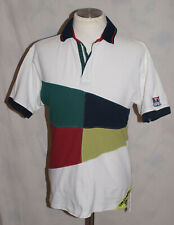 Mens Vintage TOMMY HILFIGER Zipped polo t shirt. Size S