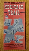 Vintage 1964 New England Heritage Trail Map Brochure Travel Tourist Road Guide