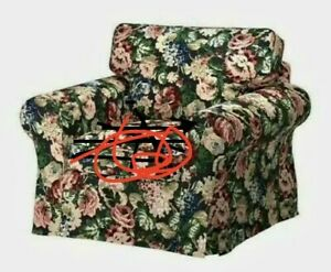 **PARTAL** IKEA EKTORP Chair PARTIAL Slipcover Lingbo Multicolor Floral  NEW