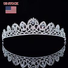 Crystal Rhinestone Bridal Tiara Crown Wedding Prom Pegeant Headband Hair Jewelry