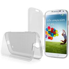 Samsung Galaxy i9500 S4 Silikon Deckel Flip Cover Bumper Schutzfolie transparent