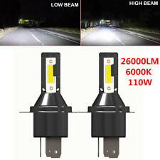 2PCS H4 Hi/Lo LED Headlight Headlamp 26000LM 6000K 110W Kit Conversion Bulbs