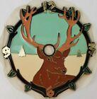 "Ramar Ind. Plastic Clock Face Deer Buck 1984 Sticky Back 4"" Diameter VTG"