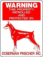 Doberman Pinscher Guard Dog Aluminum Sign Decal D728
