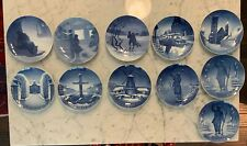 Bing and Grondahl Copenhagen B&G Christmas Plates Lot of 11, 1907 - 1949