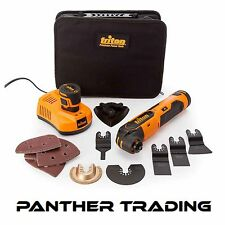 Triton Oscillante Multi-Tool 12v con 2 BATTERIE 1.5ah & Caricabatteria - 103691