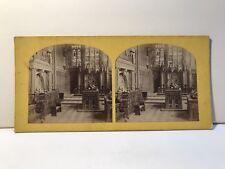 Londre Eglise Sir Thomas Becket UK Photo Stereo Vintage Albumine