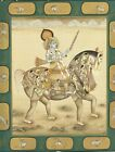 Hand Painted Lord Krishna On Composite Horse Indian Miniature Painting
