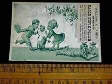 1870s-80s Willard & Lanes, Eagle Stove Polish, Victorian Trade Card F11