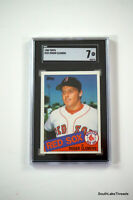 1985 Topps Roger Clemens Rookie Card #181 Boston Red Sox SGC 7