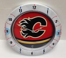 "NHL Calgary Flames Hockey Game Wall Clock, 10.5"""