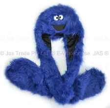 Trooper Trapper Skiing Faux Fur Cookie Monster Cosplay Party Animal Costume HaT