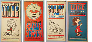 Vintage Hallmark Peanuts Political Posters. Linus, Charlie Brown, Snoopy, Lucy