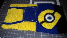 New Urban Hand crocheted Minion Baby Sleeping bag set blue  0-3m