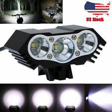 20000LM 3 x CREE XM-L T6 LED Bicycle bike HeadLight Lamp Torch Flashlight USB