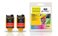 JET TEC KODAK 30C Colour Ink Cartridge Twin Pack