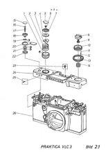 Praktica VLC 3 Kamera Reparaturanleitung und Stückliste   ( 718 )
