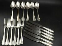 19th Century CHRISTOFLE FRANCE RUBANS Ribbons, Silver Plated Flatware Set 18 PC