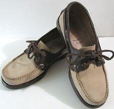 PARABOOT Suede Leather Deck Shoes FRANCE Dooney & Bourke Tan Brown Men 5 Women 7