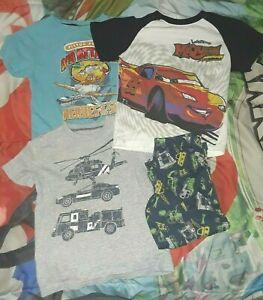 3T 4T boy Disney's Cars Lightening McQueen Trucks Vehicles Clothes Shirts Pants