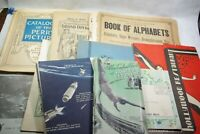 Vintage 1895-1960s Paper Ephemera Booklet Lot Brochure Letter Lot O 10 PCS