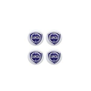 Adesivo Lancia 3D Ufficiale Logo 9 mm, 4 pezzi