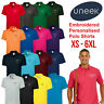 Custom Embroidered Polo Shirt Uneek Personalised with your Text Workwear UC101