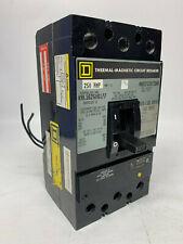 Kal362506177 Square D 250 Amp 600V 3 Pole 24Vdc Shunt Trip Aux Switch Feed Thru