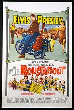 ROUSTABOUT ELVIS PRESLEY ON MOTORCYCLE 1964 1-SHEET NEAR MINT