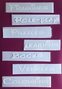 Set Of 3 Iron On Labels Perfect For Fabric Caddy Boxes /ikea Boxes