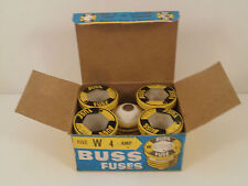 BUSS FUSES *BOX OF 5* W-4  *NEW SURPLUS IN BOX*