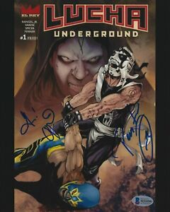 Vampiro Pentagon Jr. Signed 8x10 Photo BAS Beckett COA Lucha Underground AEW AAA