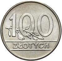 Polen - Poland - Münze - 100 Zlotych 1990 - Stempelglanz UNC