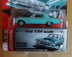 Auto World 1963 Dodge Polara Max Wedge 426 AW64052 1/64 die cast