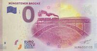 BILLET 0  EURO MUNGSTENER BRUCKE 2  ALLEMAGNE  2017  NUMERO 100