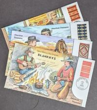 EDW1949SELL : USA 2005 Scott #3826-29 Cplt set Blankets Collins Hand Painted FDC