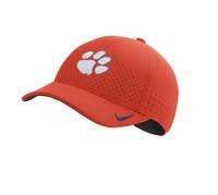 Clemson Tigers Nike Crimson Orange Aerobill Sideline Flex Fit strapback Hat Cap