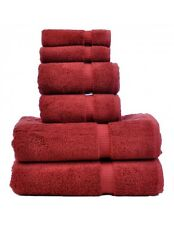 Luxury turkish Cranberry towel set of 6 PC Premium quality 100% Cotton towels