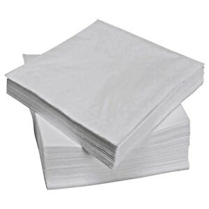 White Paper Napkins Serviette Tissue 1 Ply 33 cm Party Catering 500 - 5000