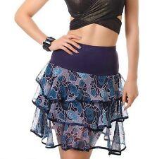 SeXy Miss Damen Chiffon Volant Flower Mini Rock bunt 34/36/38 NEU TOP STYLE
