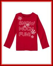 NWT Gymboree sz 7-8 Penguin Chalet Red Snowflake Snow Much Fun Long Sleeve Shirt