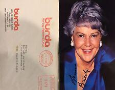 Autogramm Aenne Burda 2005+ Verlegerin Burda Moden dazu Briefumschlag aus 1990 #