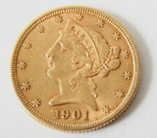 Liberty Head  $5 Gold Coin, CIRCA 1901,  EXCELLENT CONDITION, BEAUTIFUL DETAIL